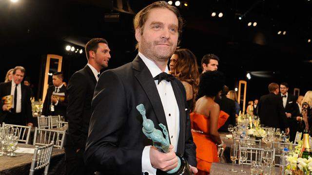 Zach Galifianakis Was Nearly Unrecognizable at the SAG Awards