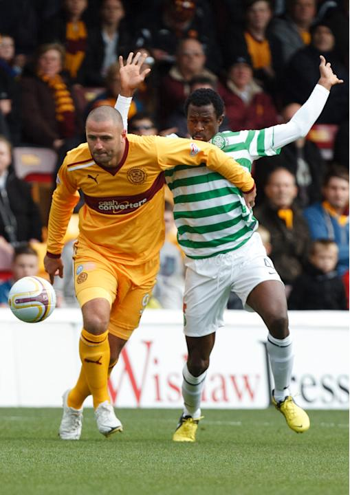Motherwell's Michael Higdon in action against Celtic last week