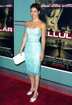 Jessica Biel at the Hollywood premiere of New Line Cinema's Cellular