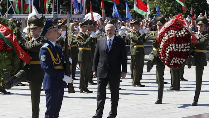 Belarus' President Lukashenko takes part in celebrations marking Independence Day in Minsk