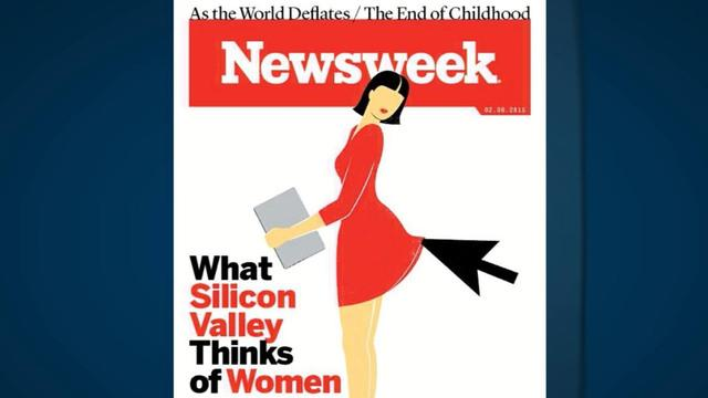 Newsweek's cover: Tech industry commentary or sexism?