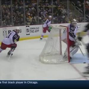 Curtis McElhinney Save on Maxim Lapierre (14:21/2nd)