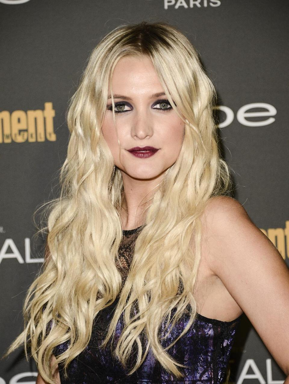 Singer Ashlee Simpson arrives at the 2013 Entertainment Weekly Pre-Emmy Party at Fig & Olive on Friday, Sept. 20, 2013 in Los Angeles. (Photo by Dan Steinberg/Invision/AP)
