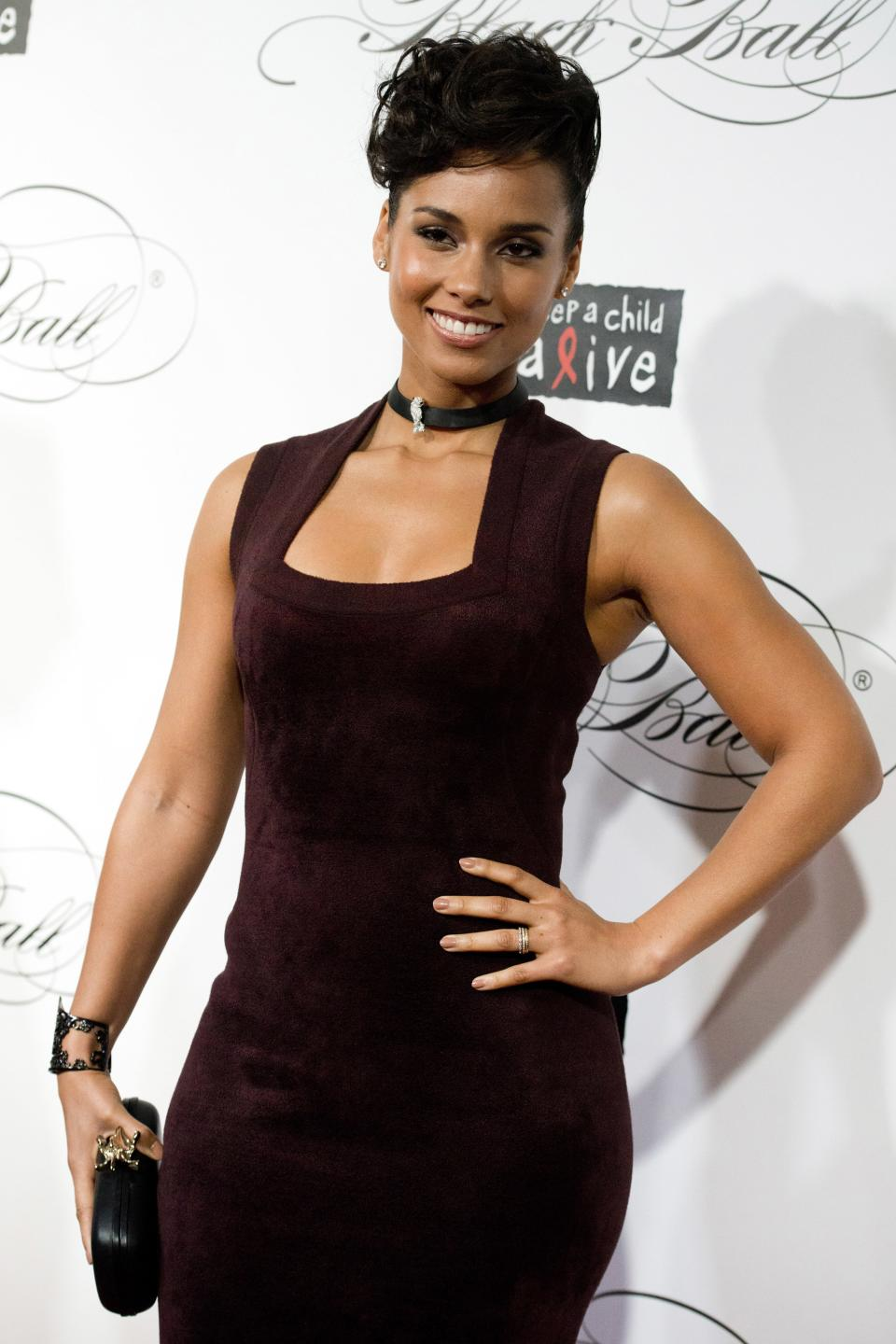 Alicia Keys attends the Keep a Child Alive's ninth annual Black Ball on Thursday, Dec. 6, 2012 in New York. (Photo by Charles Sykes/Invision/AP)