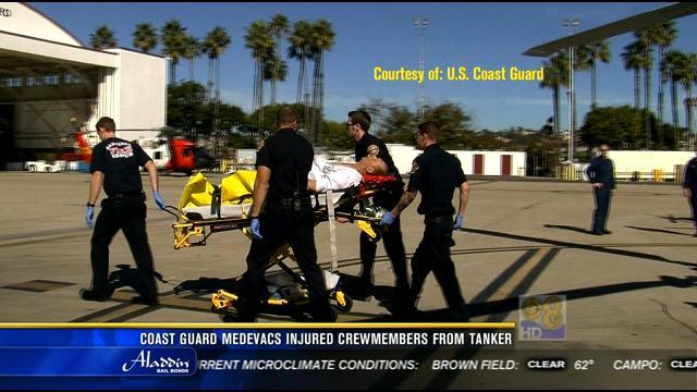 Coast Guard medevacs injured crewmembers from tanker