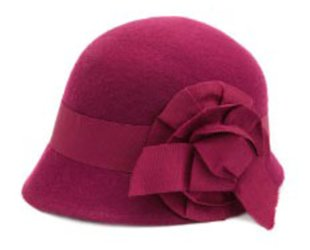 Ribbon Flower Cloche Hat