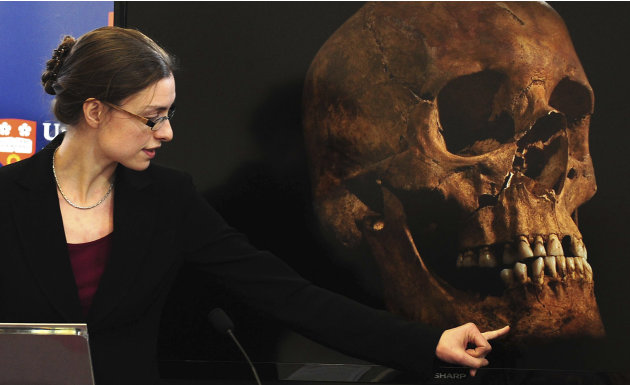 Jo Appleby, a lecturer in Human Bioarchaeology, at University of Leicester, School of Archaeology and Ancient History, who led the exhumation of the remains found during a dig at a Leicester car park,