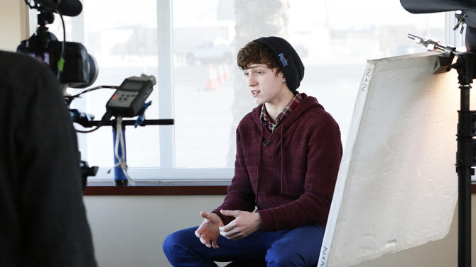 Tom Holland is seen at The Hollywood Reporter/Bombardier Video Lounge at The Hollywood Reporter's Palm Springs Shuttle presented by Bombardier Business Aircraft - Day 2, on Saturday, January 5, 2013 in Palm Springs, California. (Photo by Todd Williamson/Invision for Bombardier/AP Images)