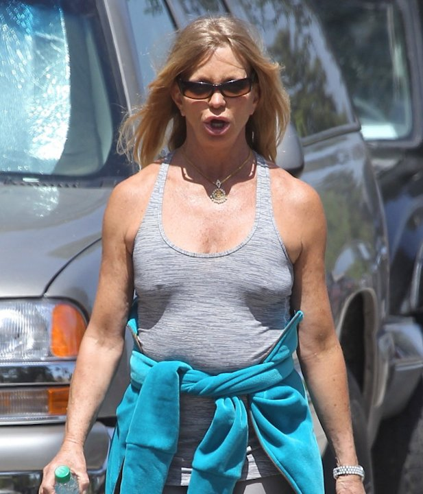 Goldie Hawn hiking
