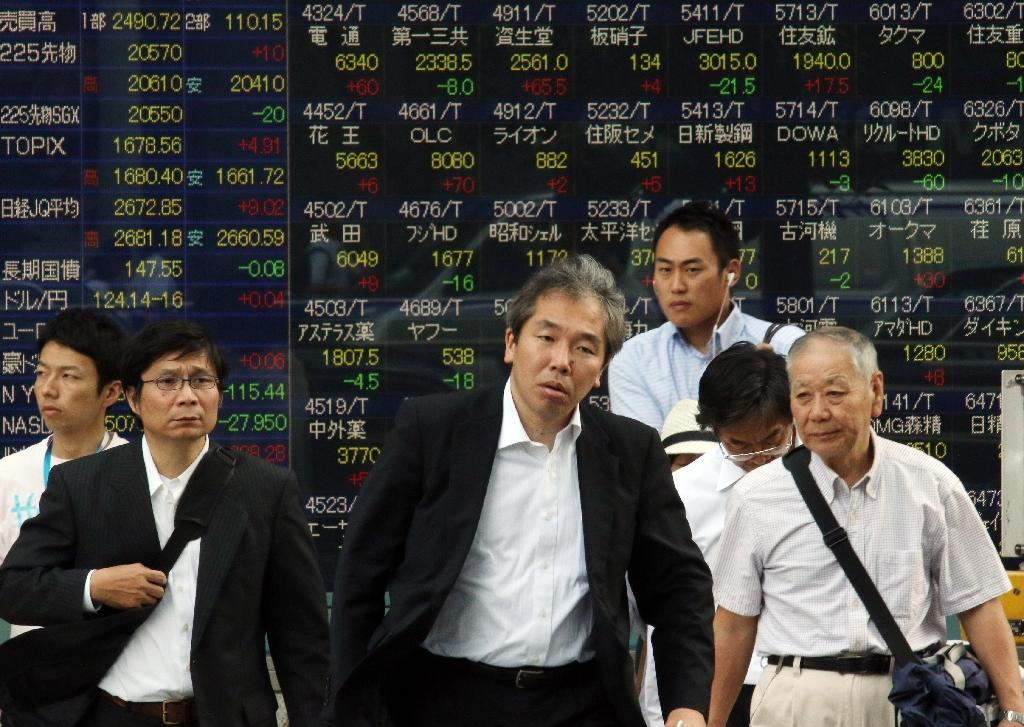 Asian markets mostly down, Tokyo rally ends after 12 days