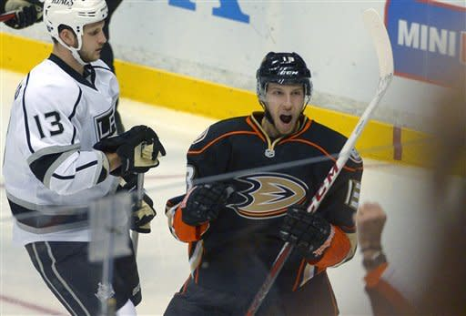 Bonino's hat trick leads Ducks past rival LA Kings