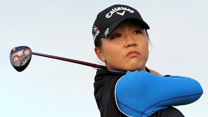 New Zealand's Lydia Ko tees off on the first day of the 2015 Women's British Open Golf Championships in Turnberry, Scotland, on July 30, 2015