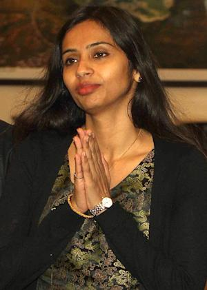 Indian diplomat Devyani Khobragade gives a traditional …