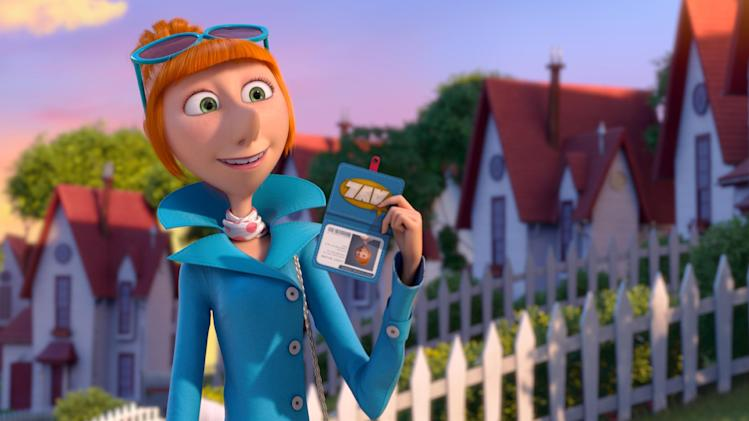 "This film publicity image released by Universal Pictures shows the character Lucy, voiced by Kristen Wiig in ""Despicable Me 2."" (AP Photo/Universal Pictures)"