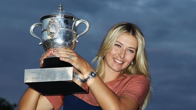 French Open Women's Champion Maria Sharapova Of Russia Poses Getty Images