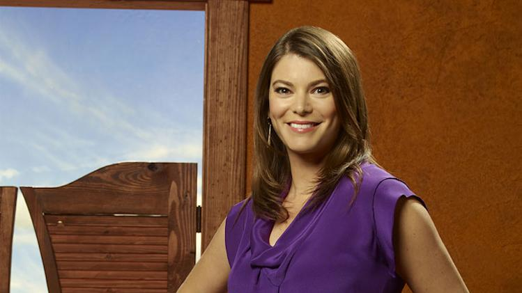 "Gail Simmons judges the contestants Season 9 of ""Top Chef."""