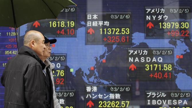Asian stocks flat, Japan backs off from high