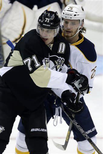 Vanek powers Sabres by Penguins 4-2