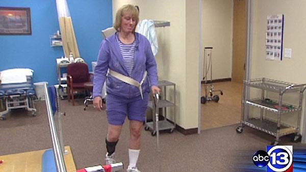 Couple helps domestic violence victim to walk again