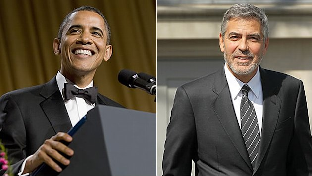 Obama Jokes with Clooney at …