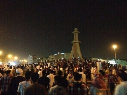 Shiite demonstrators gather in the Saudi district of Qatif on July 8. Saudi Interior Minister Prince Ahmed bin Abdul Aziz on Monday has described prominent Shiite cleric Nimr Nimr -- detained in the kingdom&#39;s Eastern Province -- as mentally ill