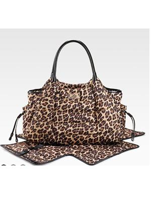 Puffer Leopard-Print Baby Bag by Kate Spade