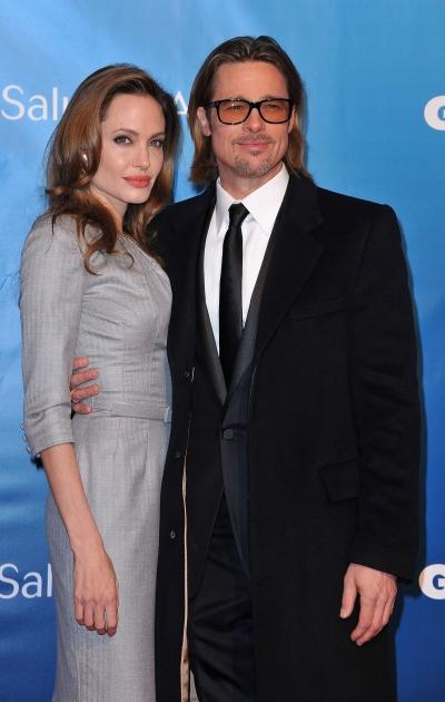 Brad Pitt and Angelina Jolie attend the Cinema for Peace Gala during day five of the 62nd Berlin International Film Festival in Berlin, Germany on February 13, 2012 -- Getty Images