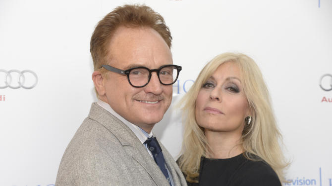 IMAGE DISTRIBUTED FOR THE TELEVISION ACADEMY - Bradley Whitford, left, and Judith Light arrive at the 8th annual Television Academy Honors  at the Montage hotel on Wednesday, May 27, 2015, in Beverly Hills, Calif. (Photo by Phil McCarten/Invision for the Television Academy/AP Images)