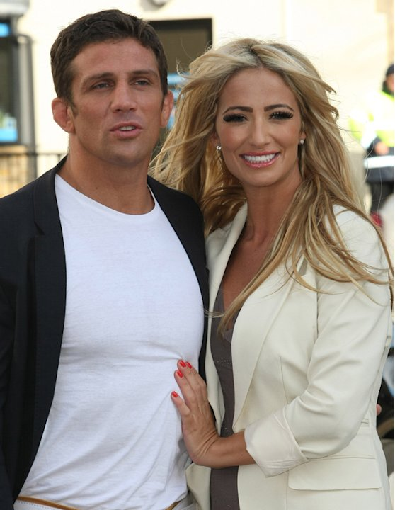 October 2011: Chantelle and Alex outside ITV Studios after gushing about their engagement on This Morning