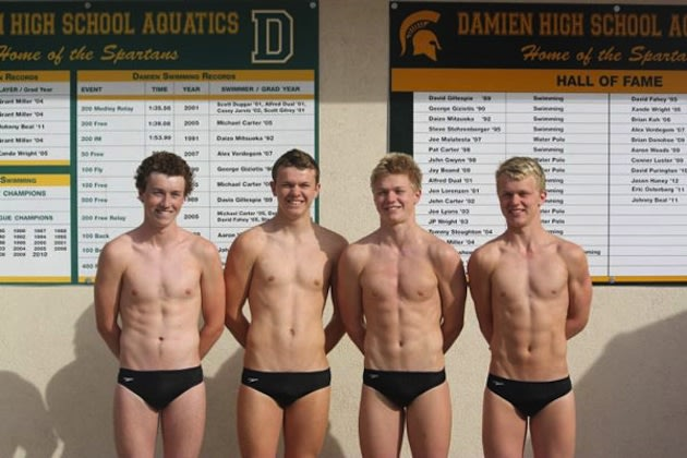 The Forbes brothers of the Damien swimming team &#x002014; Forbes family photo