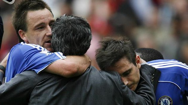 FOOTBALL; John Terry, Jose Mourinho, Frank Lampard; Chelsea; premiership; 2007