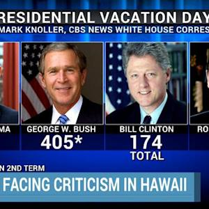 How Obama's vacation days stack up