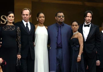 Carrie Anne Moss, Hugo Weaving, Gina Torres, Laurence Fishburne, Jada Pinkett Smith, Keanu Reeves