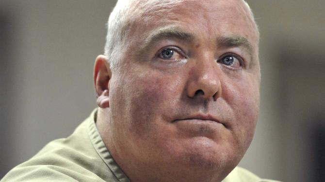 FILE - In this Wednesday, Oct. 24, 2012 file photo, Michael Skakel listens during a parole hearing at McDougall-Walker Correctional Institution in Suffield, Conn.  Skakel will be in Rockville Superior Court in Vernon, Conn., Tuesday, April 16, 2013, appealing his 2002 conviction of murdering Martha Moxley in Greenwich in 1975.  Skakel's attorney will argue his trial attorney's poor performance likely affected the verdict. (AP Photo/Jessica Hill, Pool, File)
