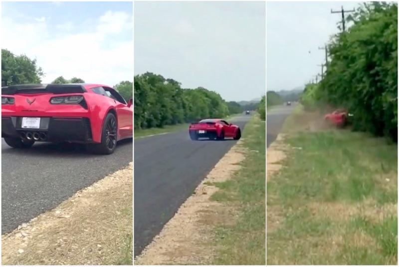 Corvette Z06 Crashes Hours After Owner Takes the Keys