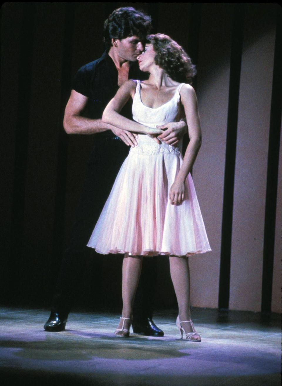 "FILE - In this image provided by Lionsgate Home Entertainment, Patrick Swayze, portraying Johnny Castle, and Jennifer Grey, portraying Baby Houseman, are shown in a scene from the film, ""Dirty Dancing."" Lionsgate is set to produce a remake of the film directed by Kenny Ortega. (AP Photo/Lionsgate Home Entertainment)"