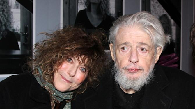 "This undated image released by The O and M Company shows lyricist Gerry Goffin with his wife Michelle at the opening night of ""Beautiful: The Carole King Musical,"" in New York. Goffin, ex-husband of Carole King, died Wednesday, June 18, 2014, at his home in Los Angeles. He was 75. Goffin, who married King in 1959 while both were in their teens, penned more than 50 top 40 hits, including ""Pleasant Valley Sunday"" for the Monkees, ""Crying in the Rain"" by the Everly Brothers, ""Some King of Wonderful"" for the Drifters and ""Take Good Care of My Baby"" by Bobby Vee. The couple divorced in 1968 but Goffin kept writing hits, including ""Savin' All My Love for You"" for Whitney Houston. (AP Photo/The O and M Company, Bruce Glikas)"