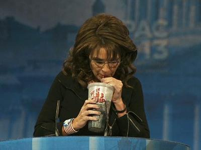 Palin Pokes Fun With Super Big Gulp