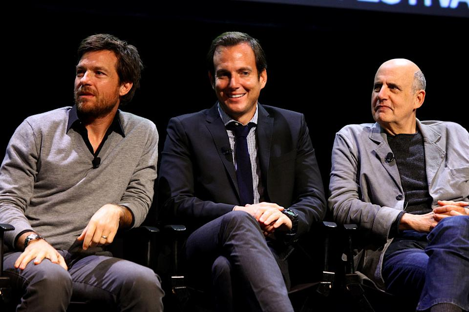"Jason Bateman, Will Arnett and Jeffrey Tambor attend The 2011 New Yorker Festival: ""Arrested Development"" Panel at Acura at SIR Stage37 on October 2, 2011 in New York City."