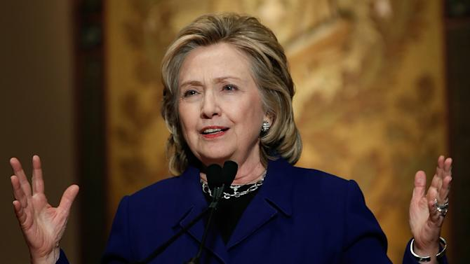 Hillary Clinton Presents Georgetown Institute for Women's Annual Awards For Advancing Women In Peace and Security