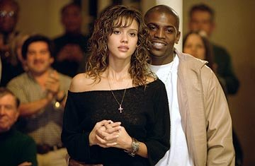 Jessica Alba as Honey Daniels and Mekhi Phifer as Chaz in Universal's Honey