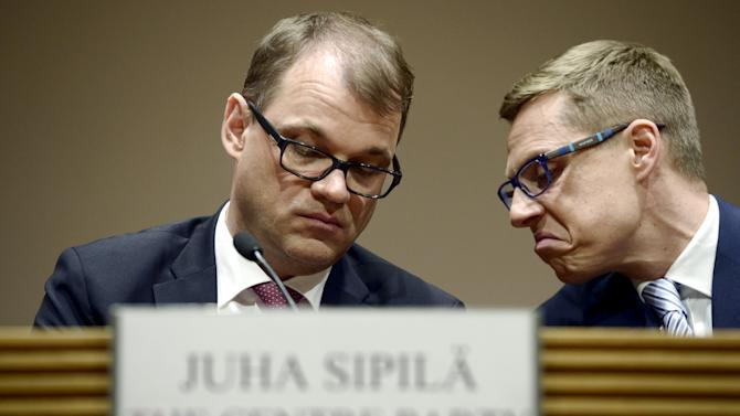 Sipila and Stubb attend a reception in Helsinki