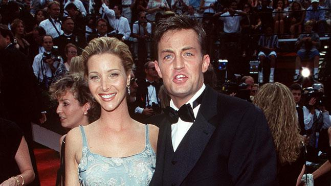 Lisa Kudrow and Matthew Perry at The 49th Annual Primetime Emmy Awards.