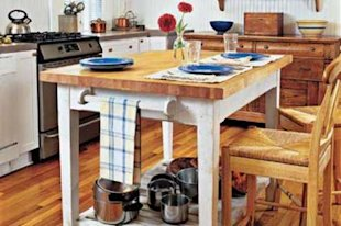 Butcher-block island