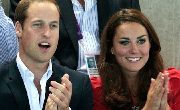 KATE MIDDLETON OLYMPICS 2012 - SWIMMING
