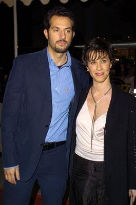 Guy Oseary and Alanis Morissette at the LA premiere of Warner Bros.' Starsky & Hutch