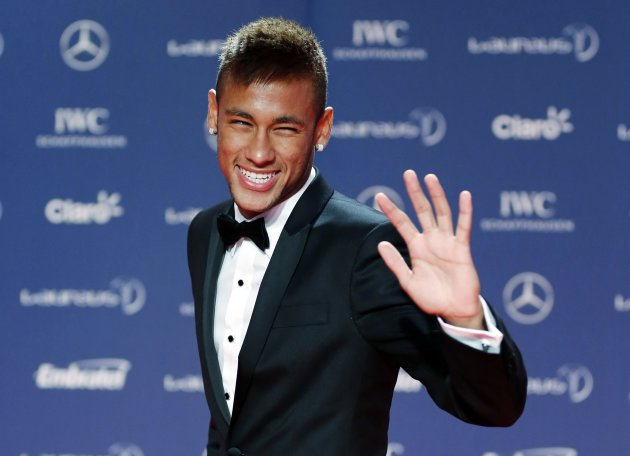 File photo of Brazilian soccer player Neymar arriving for the 2013 Laureus World Sports Awards in Rio de Janeiro