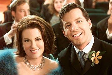 Megan Mullally and Sean Hayes on NBC's Will and Grace
