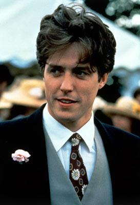 Hugh Grant in Gramercy Pictures' Four Weddings and a Funeral