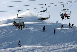 """People spend their day at the """"Valle Nevado"""" ski center, east of Santiago, in the Los Andes mountain range"""